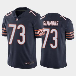 Chicago Bears Lachavious Simmons Navy Jersey
